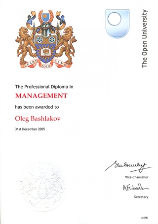 The Professional Diploma in Management (OU)